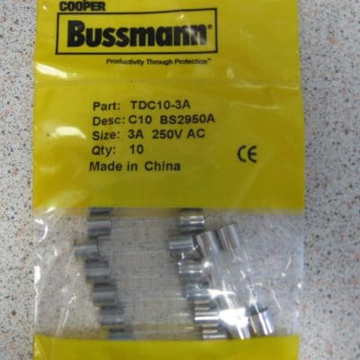 Cooper Bussman TDC10-3A Glass Fuse