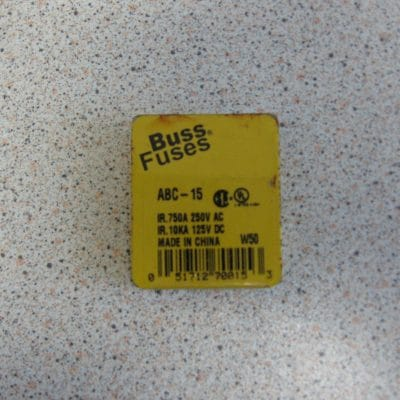 Bussmann ABC-15 Fuse