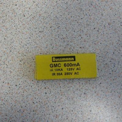 Bussmann GMC 600MA Fuse