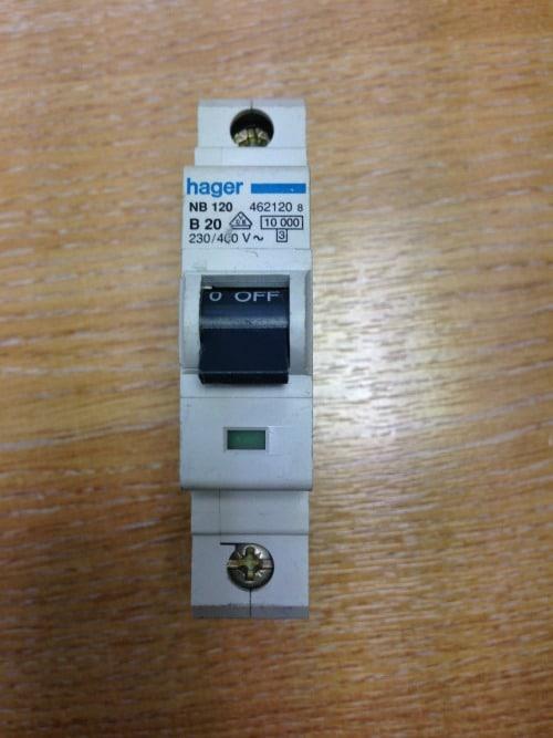 Hager NB120 20 Amp Circuit Breaker