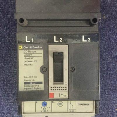 Schnieder Square D CDAE34100Triple Pole MCCB