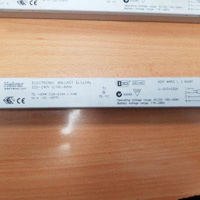 Helvar EL1x54s Electronic Ballast