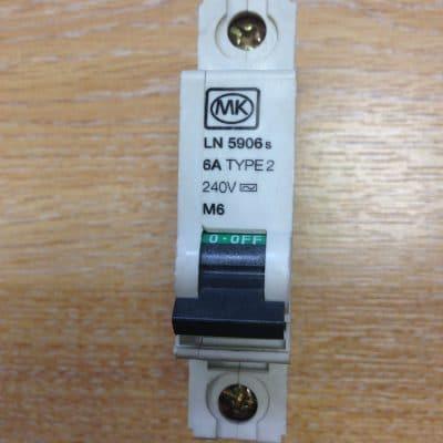MK Circuit Breaker 6A Type 2