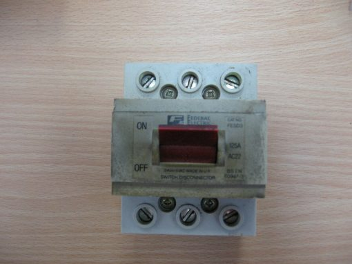 Federal Electric FESD3 125 Amp 3 Phase Pole Main Switch Disconnector