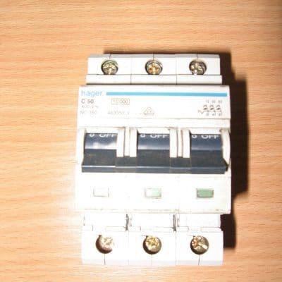 Hager 50 AMP TypeC 3 Phase C50/463350
