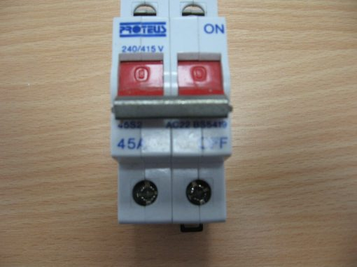 Proteus Double Pole Main Incomer Switch